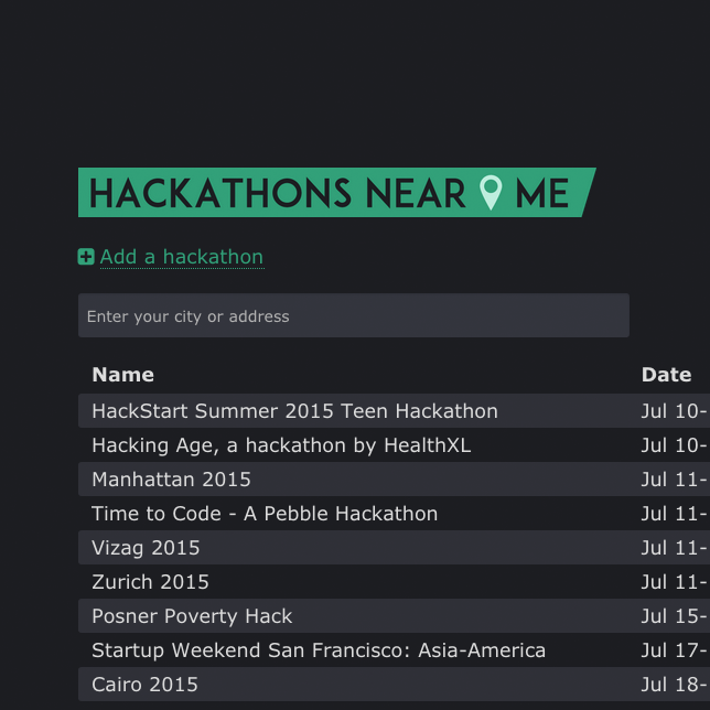Hackathons Near Me